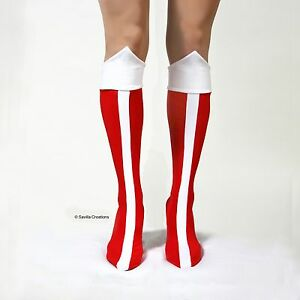 Wonder Woman Bootlets Shoe Covers Handmade In Usa Boot Tops