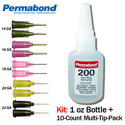 Reasonable Permabond 200 1oz Btl+tip Multipack Instant Adhesive-fast Set-thick Gap Fills Lustrous Surface