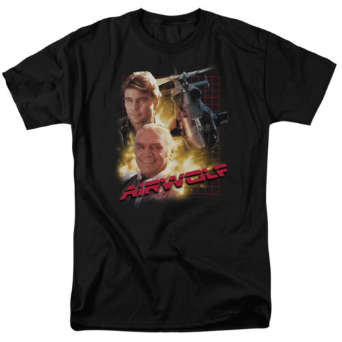 AIRWOLF TV Show Cast of Characters Licensed T-Shirt All Sizes