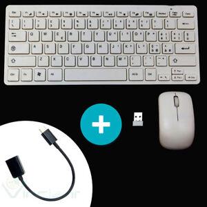 Mini tastiera ITALIANA+mouse wireless per HTC 10 11 smartphone TVG O3C