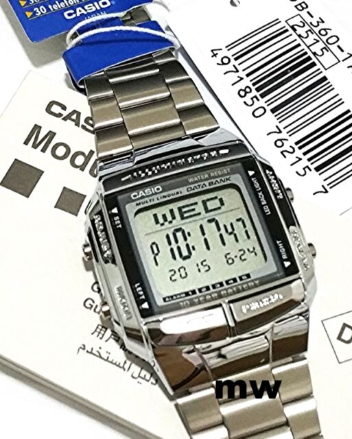 CASIO DB-360-1A DB360 Dual Time Alarm TELEMEMO 30 DIGITAL S/S Unisex WATCH NEW