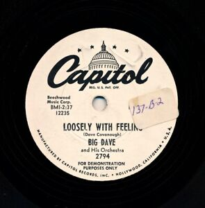 BIG-DAVE-Cavanaugh-Orch-on-1954-Capitol-2794-Promo-Loosely-With-Feeling