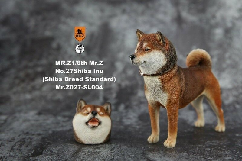 Mr.Z 1 6 Animal Model NO. 27-SL004  Brown Japanese shiba Inu Dog Toy
