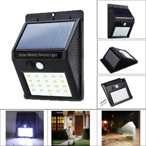 Image Is Loading 20 Led Solar Pir Motion Sensor Wall