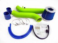 99-00 Honda Civic Hx Ex Si 1.6l Green Cold Air Intake System - Blue Filter