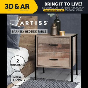 Artiss Bedside Tables Drawers Side Table Wood Nightstand Storage Cabinet Bedroom