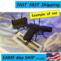 Pistol Display Case Fixture -- Gun Display Case Holders - 5 & 10 Pack ---- New..