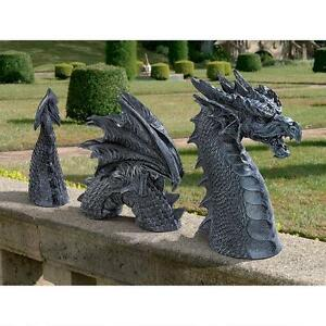 Beau Image Is Loading Gothic Dragon Garden Sculpture Lawn Pond Statue Outdoor