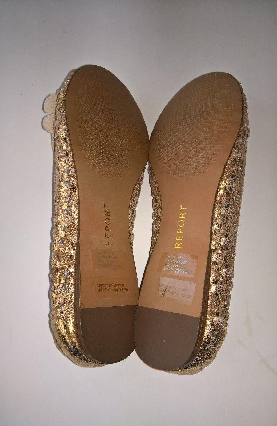 REPORT 'Royo' Bronze Größe Open Toe Flats Schuhes Größe Bronze 7 9fbc26
