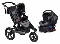 Bob 2016 Revolution Flex Stroller Travel System Black + Bob B-safe 35 Car Seat