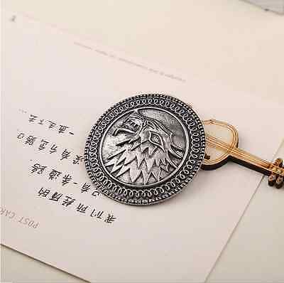 Game of thrones Stark song of ice and fire vintage antique silver brooch Pins