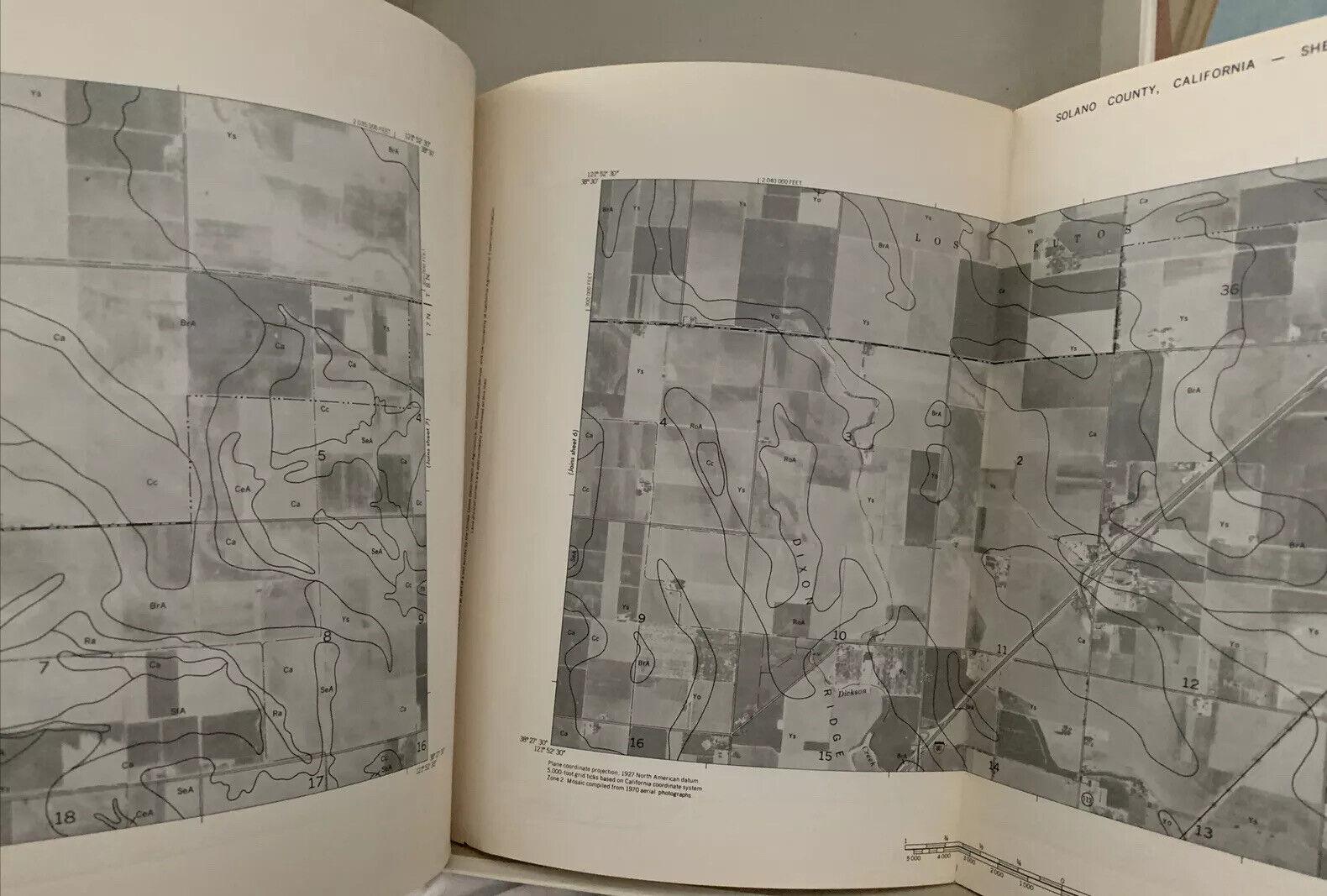 RARE BOOK~Soil Survey Solano County~1977~California~Land Use Maps Topography