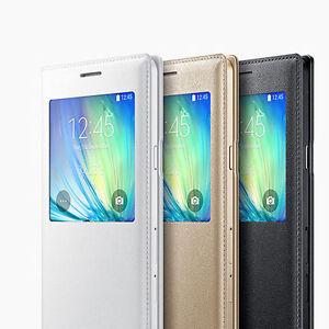 Nouveau-Coque-Samsung-Galaxy-J1-J5-J7-Flip-Cover-View-au-Choix-Cover-Housse-etui