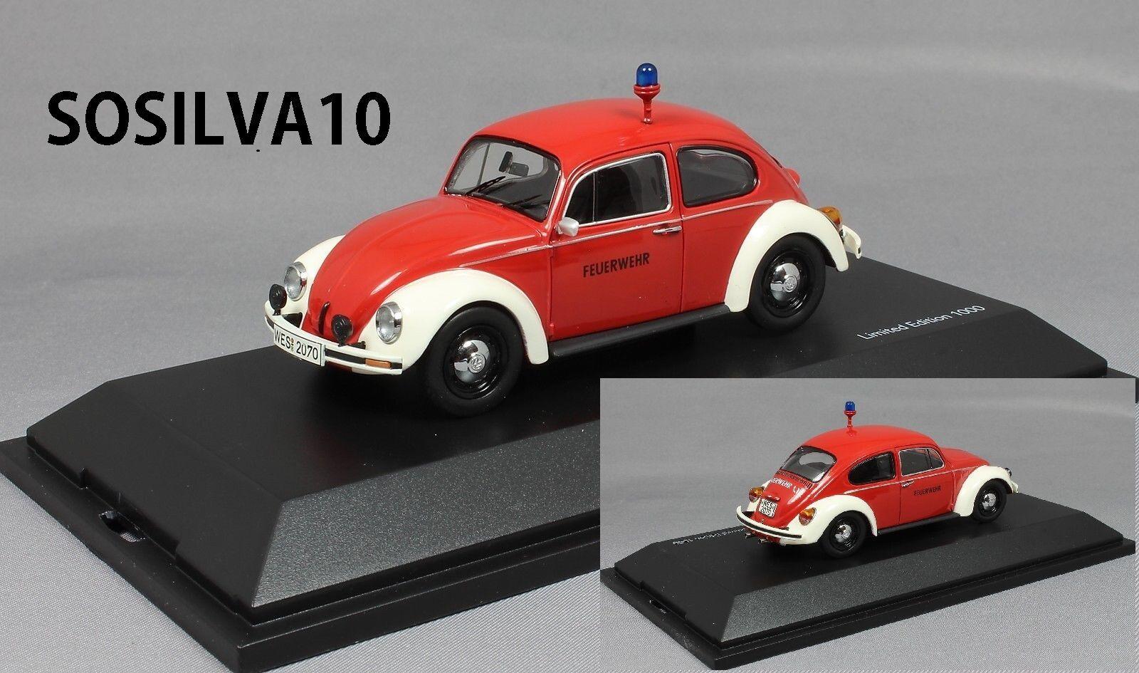 Schuco  1 43 vw kafer 1200 feuerwehr limited edition