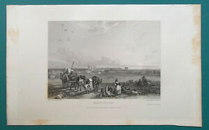 FRANCE-View-of-Montpelier-1833-Antique-Print-Engraving