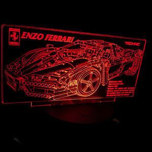 Custom-LED-Display-stand-PLAQUE-for-lego-8653-Ferrari-Enzo-Racers-Technic