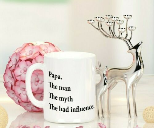 PERSONALISED FATHERS DAY GIFT BAD INFLUENCE QUOTE DAD PAPA UNCLE  CUP MUG