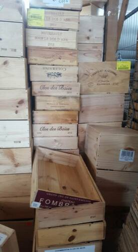 3 x ASSORTED MIXED SIZE FRENCH ITALIAN WOODEN WINE PORT CHAMPAGNE CRATE BOXES