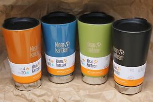 KLEAN-KANTEEN-PINT-TUMBLER-cafe-coffee-Insulated-16-oz-w-LID-water-bottle-beer