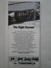 6/1985 PUB TURBOMECA TM 333 TURBOSHAFT GAS TURBINE HELICOPTERE ORIGINAL AD