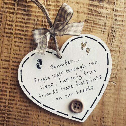 Friendship Footprints Plaque Gift Present Birthday Leaving Colleague Personalise