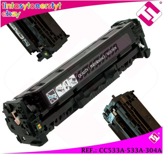 Magenta Toner CC533A 533A 304A Compatible For Printers Nonoem HP No Original