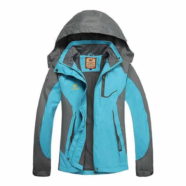 Women Outdoor Waterproof Breathable Camping Trekking Hiking Soft shell Jacket
