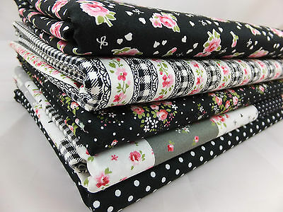 Lovely Flower Fat Quarter Bundles 100% cotton fabric patchwork quilting