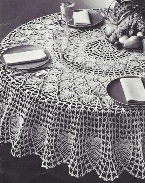 Vintage Crochet Pattern To Make Pineapple Petals Design Round