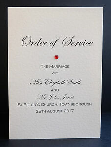10 Handmade Personalised Wedding Order of Service Front Covers Free ...