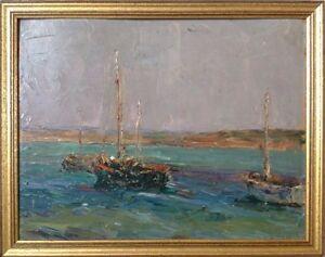 Georges-SIMONNET-1884-1962-Mauvaise-mer-a-St-Pol-de-L-HSP-27x35-SBD-Titre-date
