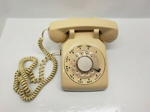 Western-Electric-AT-amp-T-Rotary-Dial-Telephone-Beige-CS500DM