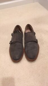 Men's Banana Republic gray suede shoes with monk strap 8