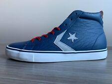 5ac698d3affc07 Converse Cons Pro Leather Vulcanized Mid Chevron Star Poseidon Blue ...