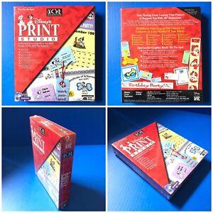 Disney's Print Studio 101 Dalmatians CD-ROM WINDOWS Software NEW SEALED BIG BOX