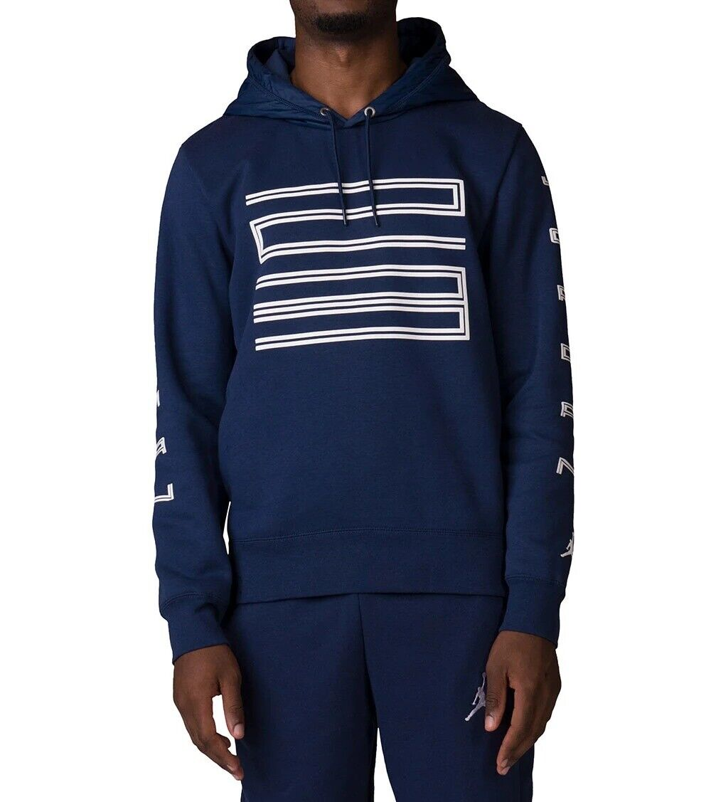 factory price new design large discount NEW Nike Air Jordan 11 Win Men's Size L Hybrid Hoodie Sweatshirt 908354 410  Navy
