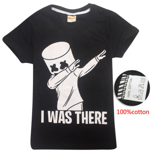 Marshmello T Shirt DJ Music Kids T-shirts Top Outfit Costume tshirts 100/% Cotton