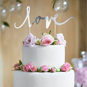 Tortendekoration Love Silber Hochzeit Vintage Tortenaufsatz Cake