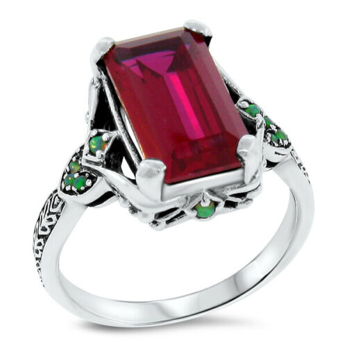 Details about  /ANTIQUE VICTORIAN STYLE LAB  ALEXANDRITE .925 STERLING SILVER RING SIZE 6 #264