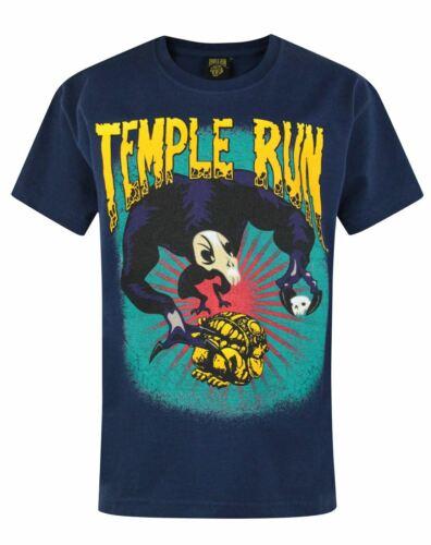 Official Temple Run Boy/'s Blue T-Shirt