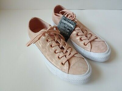 Converse Women's Chuck Taylor All Star Shimmer Suede Ox Sneaker Dusk Pink US 7M | eBay