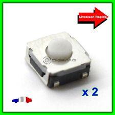2 Boutons Pulsadores Interruptor para Control remoto carcasa llave inteligente