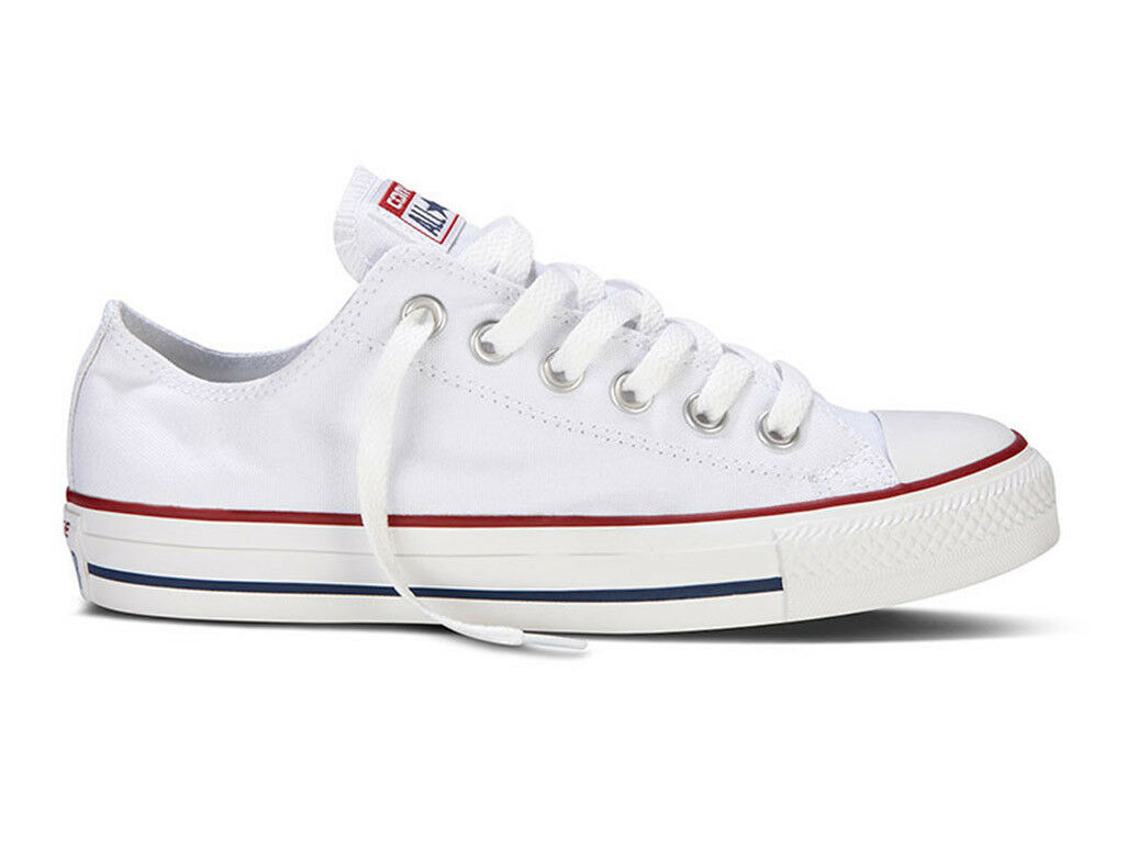 Converse All Star OX LOW  Canvas Optical White  Mens Women Unisex Trainers