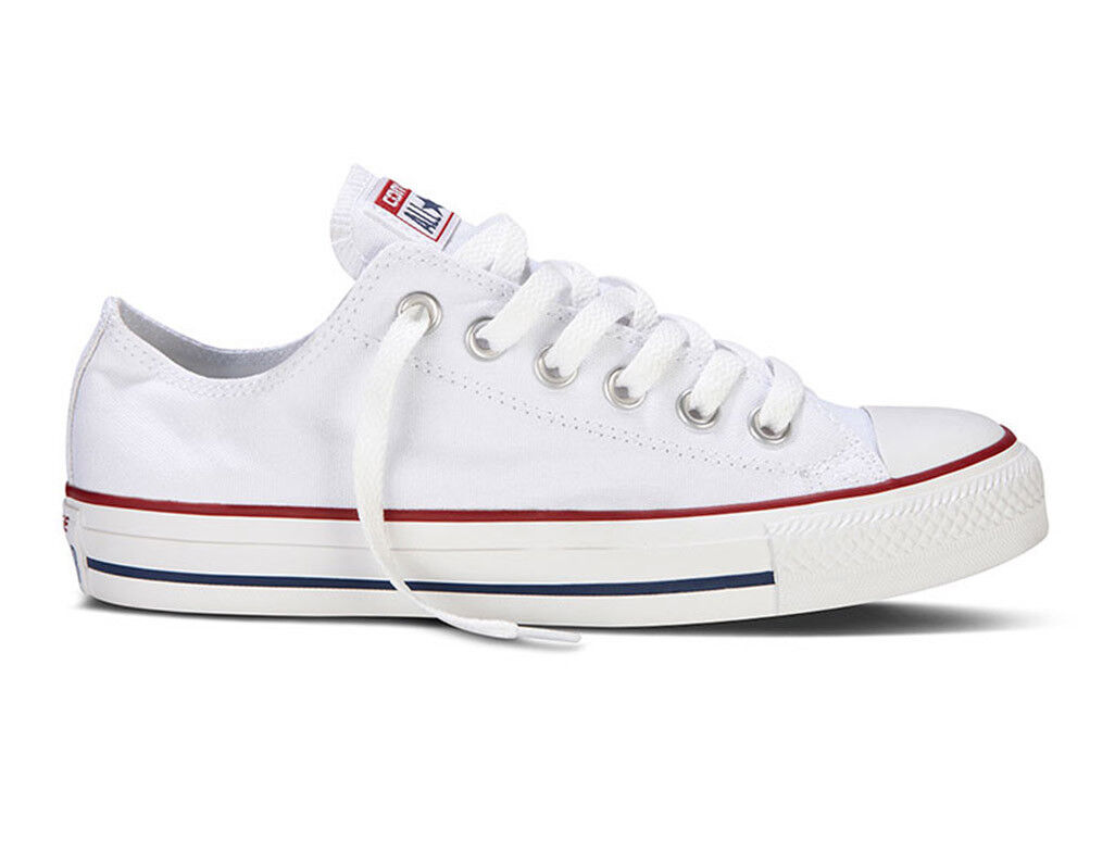 Converse All Star OX LOW  Canvas Optical Weiß  Mens damen Unisex Trainers