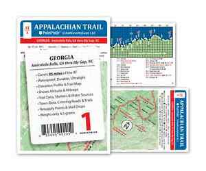 Details about Appalachian Trail Map AT-1 Georgia AT Pocket Profile