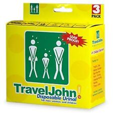 TravelJohn Disposable Urinal for Men, Women - Children 3 ea