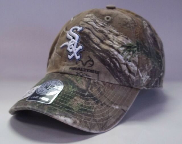 8243530795915 Chicago White Sox 47 BRAND Realtree Camo Clean up Slouch Adjustable Hat Cap