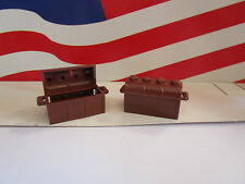 LEGO (2) REDLISH'S BROWN TREASURE CHESTS HARRY POTTER, PIRATE'S, OR ANYTHING