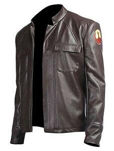 Poe Dameron Star Wars The Last Jedi Brown Leather Jacket