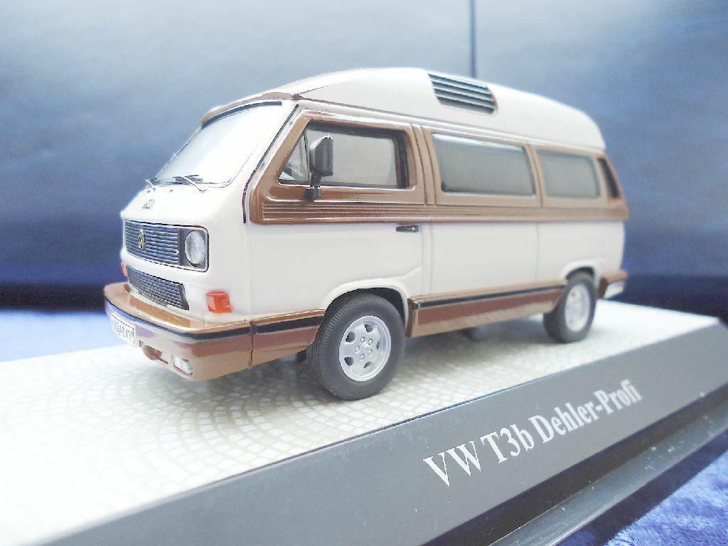 sorteos de estadio + Volkswagen VW t3 B Dehler alto techo techo techo marrón-Weiss 1 43 premium classixxs 13078  descuento online